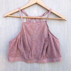 Cacique halter lace bralette pink 22/24